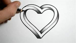 Simple Pencil Drawing Images Of Heart - Drawing Of Sketch