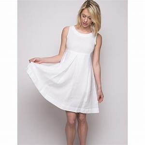 robe en lin blanche zippee dans le dos duncan With robe blanche évasée