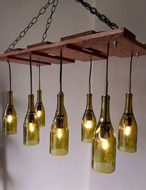 25 unique wine bottle chandelier ideas on