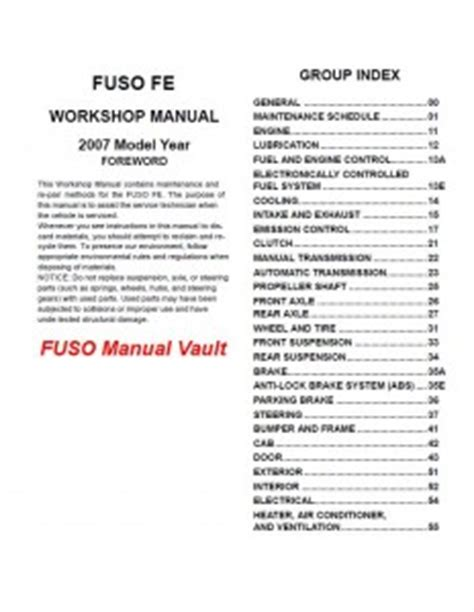 car engine manuals 1991 mitsubishi truck parking system 2007 mitsubishi fuso fe84 fe85 truck service manual pdf download