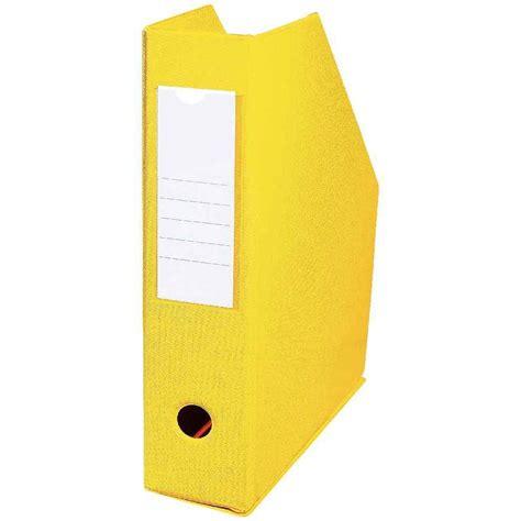 boite de classement bureau boite de classement en pvc à pan coupé dos 7cm jaune