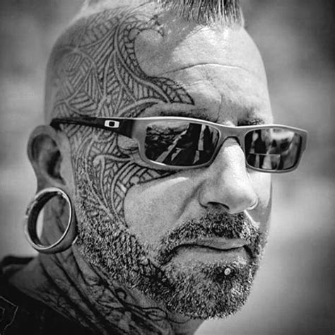 Collection Of 25+ Tribal Face Tattoo