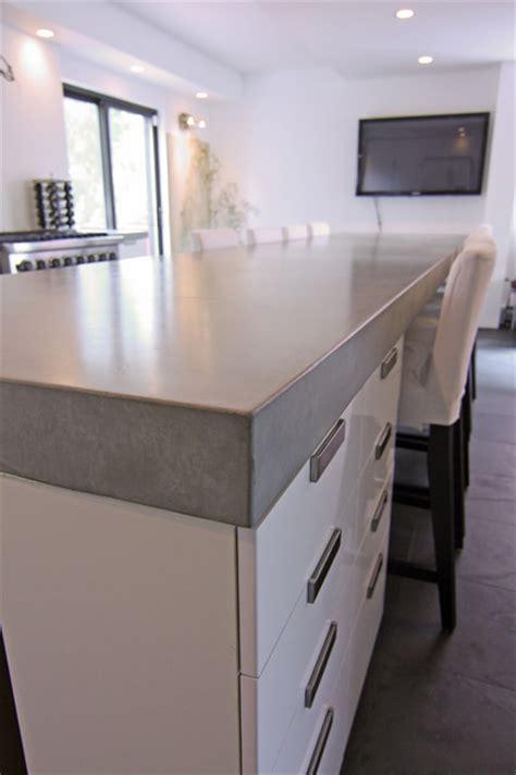 Concrete kitchen tops and island   Modern   Kitchen
