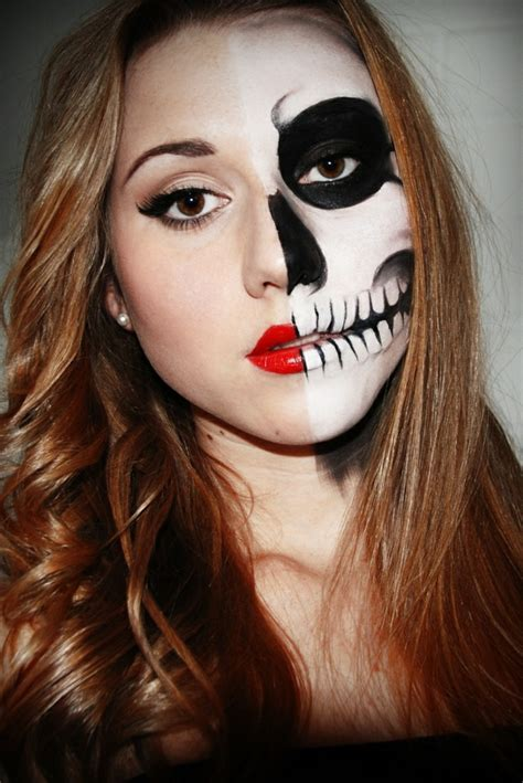 skelett schminken frau make up ideen das gesicht f 252 r v 246 llig ver 228 ndern
