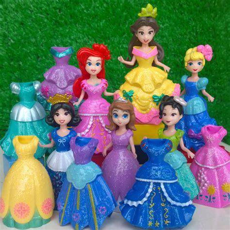 princess  kingdom magiclip play set snow white ariel belle rapunzel figure toy