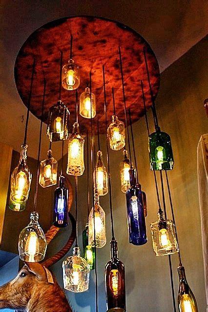wine bottle chandelier for sale salvaged liquor bottle chandelier 1 750 00 via etsy so