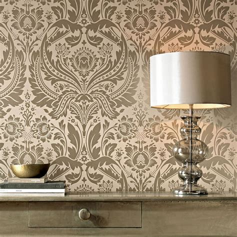 desire taupe  metallic wallpaper graham brown