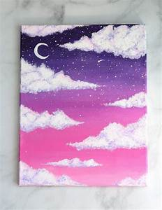 How, To, Paint, Clouds, With, Acrylic, Paint, The, Easy, Way
