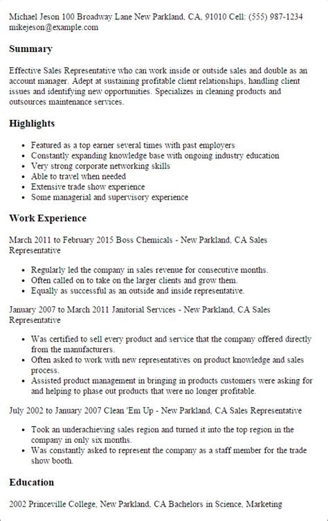 Sale Representative Resume Sle by Sales Resume Templates To Impress Any Employer Livecareer