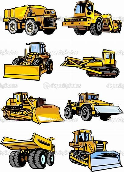 Clipart Construction Machinery Building Vector Equipment Illustration