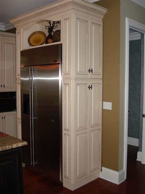 side of kitchen cabinet ideas above refrigerator cabinets design pictures remodel