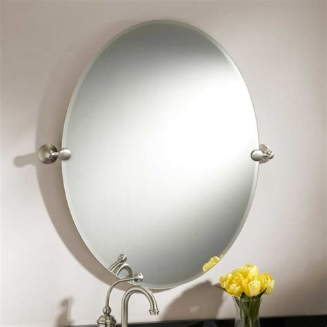 Tilting Bathroom Mirror by 31 Quot Seattle Oval Tilting Mirror Contemporary Bathroom