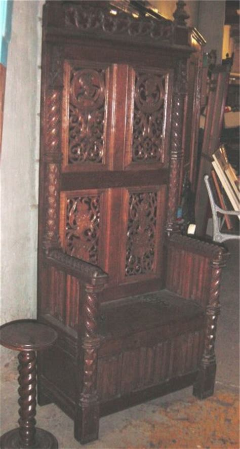 oak bishop s chair for sale antiques classifieds