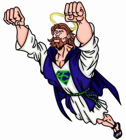 Jesus Hero Christ Clipart Miracle Lord Superhero
