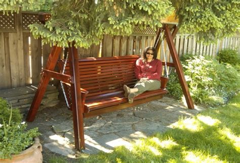 wooden swing sets for adults wooden global