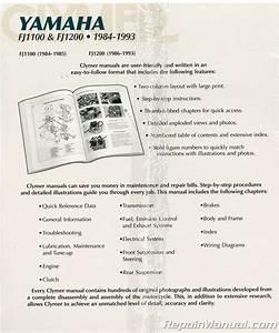 Clymer Yamaha Fj1100 Fj1200 1984