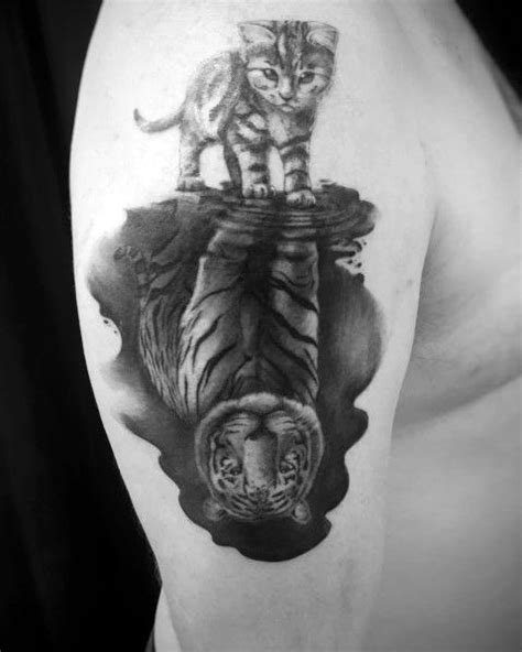50 Reflection Tattoo Ideas For Men - Mirrored Designs
