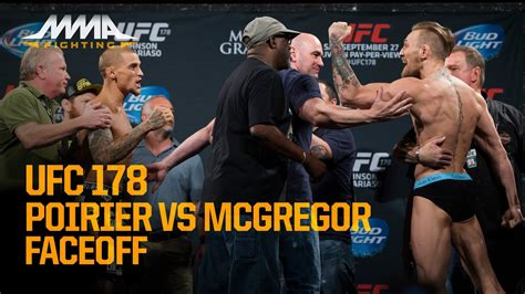 ufc  weigh ins conor mcgregor  dustin poirier youtube
