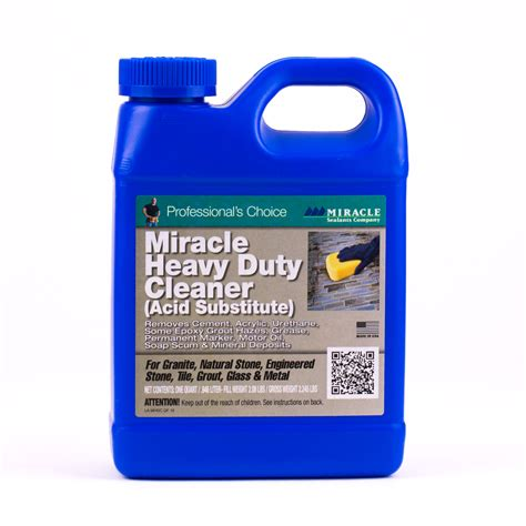 miracle heavy duty acidic cleaner cleaners miracle heavy duty cleaner acid substitute gallon