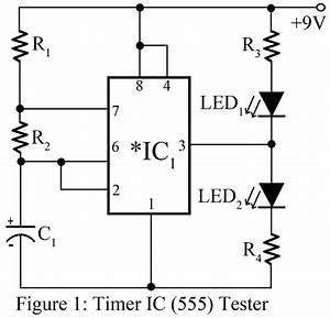 555 timer ic tester best engineering projects With 555 timers