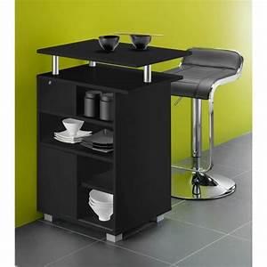 Meuble De Cuisine Noir : kitchen meuble de cuisine bar 60 cm noir achat vente desserte billot kitchen meuble de ~ Teatrodelosmanantiales.com Idées de Décoration