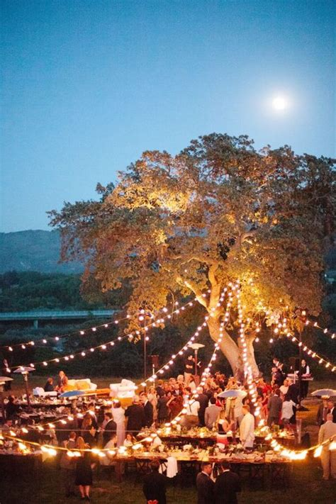 romantic  whimsical wedding lighting ideas deer