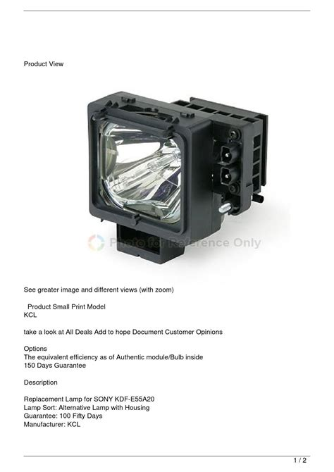 sony kdf e55a20 tv replacement l with housing by tyrone