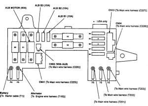 acura integra 1990 wiring diagrams fuse panel
