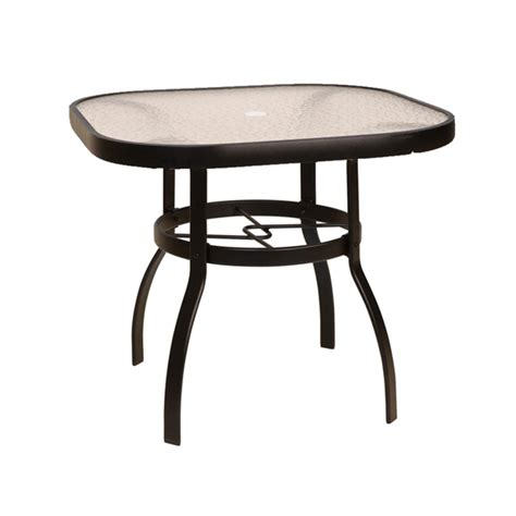 woodard deluxe 36 quot square glass top dining table 826137w