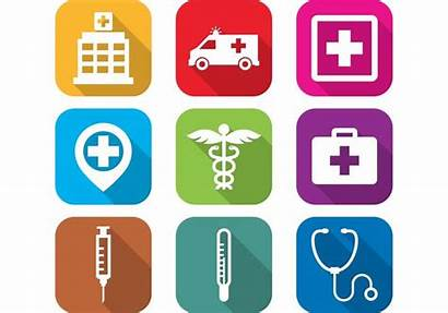 Hospital Icon Icons Vector Flat Clipart Medical