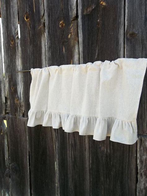ruffled valance linen curtain ruffled burlap curtain