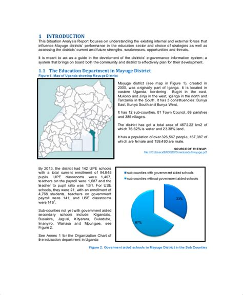 situational analysis template 6 sle situation report templates sle templates