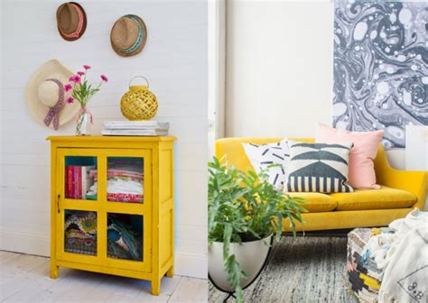 plateau canapé un zest de jaune pour illuminer la déco joli place
