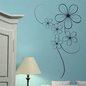 elegant flower floral wall transfer vinyl wall decal With flower wall decals