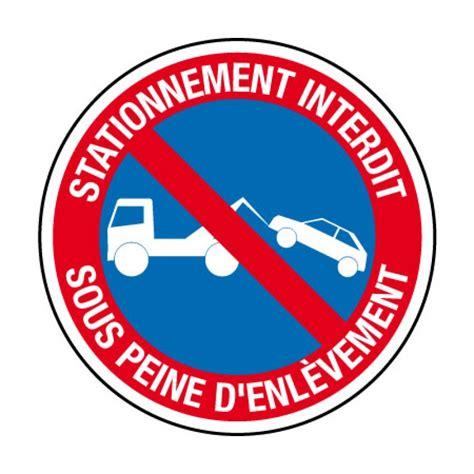 plaque de bureau ci20 panneau stationnement interdit sous peine enlèvement