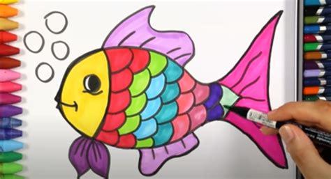 menggambar ikan hias  mudah  pemula dizeen