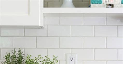 backsplash  white subway tiles  home depot