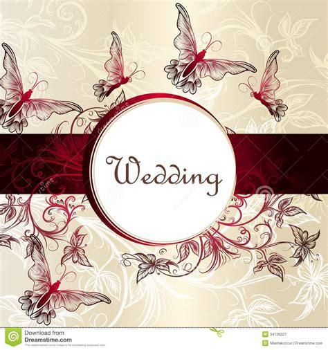 wedding invitation card  design stock vector image