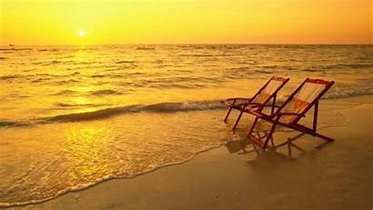 Yellow Desktop Wallpapers Beach Sunset Relax Nice