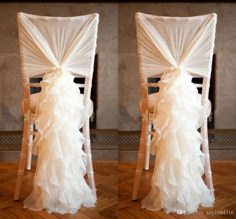 2015 new arrival chiffon chair covers for weddings