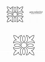 Quilt Hawaiian Quilting Stencil Patterns Stencils Printable Coloring Flower Designs Templates Pattern Printables Applique Quilts Fun Craft Template Printcolorfun Pages sketch template