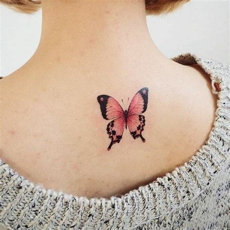 awesome flowers  butterfly tattoo  upper