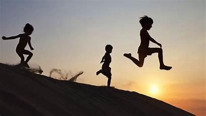 Fitness Children Running Down Guidelines Quarter Meet