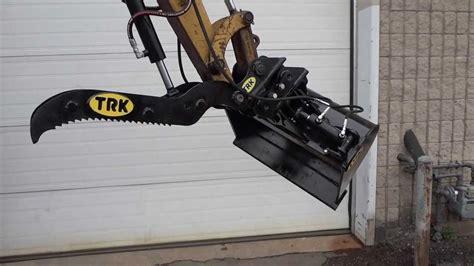trk attachments excavator tilt bucket rotary swing youtube