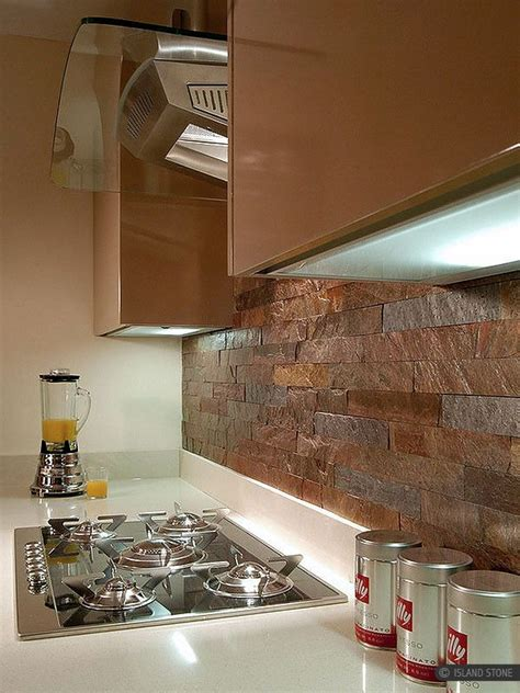 copper backsplash for kitchen modern kitchen with copper color slate kitchen backsplash 5783