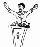 Preacher Church Coloring Baptist sketch template