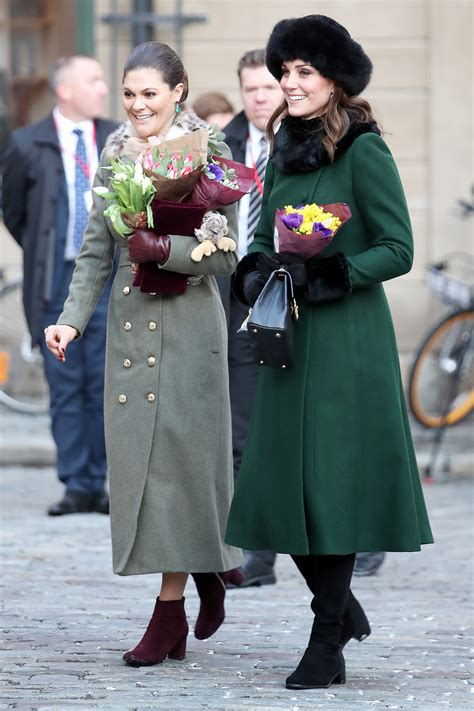 Crown Princess Victoria and Kate Middleton Match in Green ...