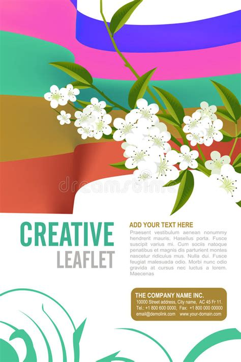 Leaflet Template Stock Images Royalty Free Images Leaflet Design Stock Images Image 31729354