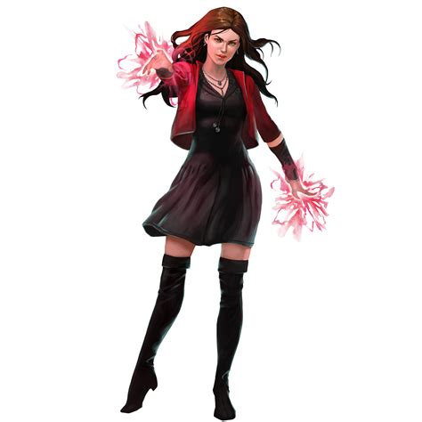 scarlet witch   marvel puzzle quest demiurge studios