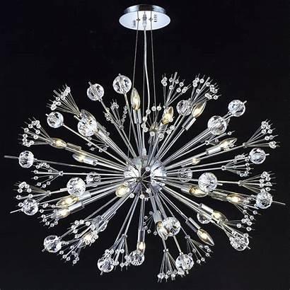 Sputnik Lighting Elegant Crystal Chandelier Modern Chrome